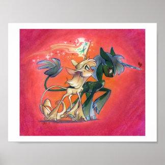 Lovely Unicorn Walk Poster