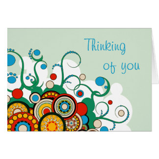 Lovely Urban Circle Art - Thinking of You Card