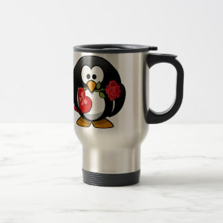 Lovely Valentine Penguin Travel Mug