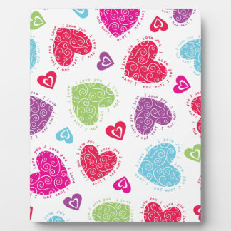 """Lovely Valentine's Day hearts and the """"I love you"""" Plaque"""