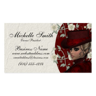 Lovely Victorian Woman w/Flowers Business Cards