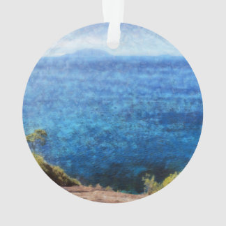 Lovely view of ocean ornament