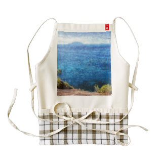 Lovely view of ocean zazzle HEART apron