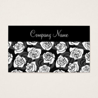 Lovely Vintage black and white roses Business Card