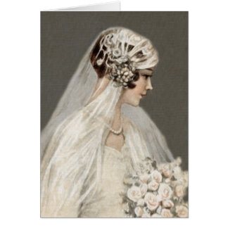 Lovely Vintage Bride, Gray Card