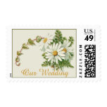 Lovely Vintage Daisies Wedding Stamp