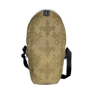 lovely vintage distressed gold damask messenger bags