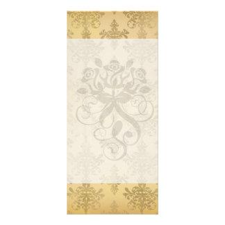 lovely vintage distressed gold damask customized rack card