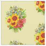 Lovely Vintage Floral Bouquet Fabric
