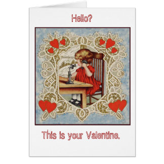 Lovely vintage lace Valentine for your loved one! Stationery Note Card