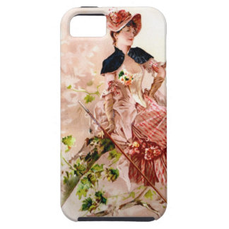 Lovely Vintage Lady In Pink Dress Case For The iPhone 5