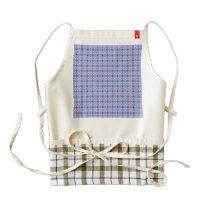 lovely vintage pattern blue zazzle HEART apron
