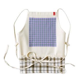 lovely vintage pattern blue zazzle HEART apron