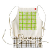 lovely vintage pattern green zazzle HEART apron
