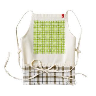 lovely vintage pattern green zazzle HEART apron