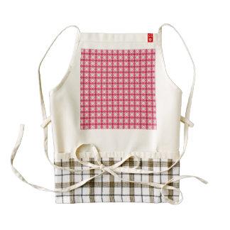 lovely vintage pattern pink zazzle HEART apron