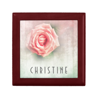 Lovely vintage rose personalised gifts gift box