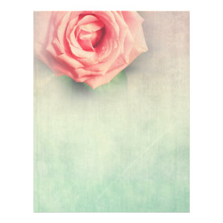 Lovely vintage rose personalised gifts letterhead