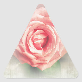 Lovely vintage rose personalised gifts triangle sticker