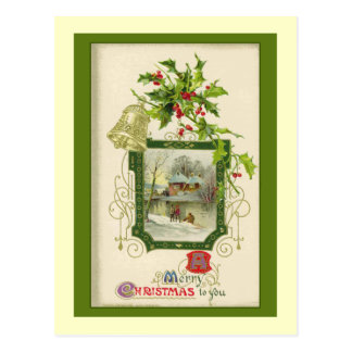 Lovely Vintage Victorian Christmas Card Post Card