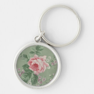 Lovely Vintage Victorian Rose Keychain