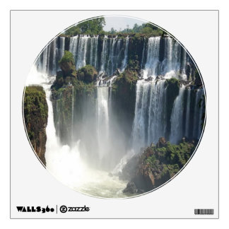 Lovely Water Falls - Wall Decal Circle