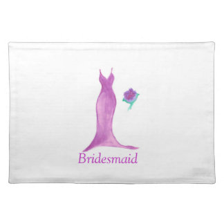 Lovely Watercolor Bridesmaid Placemat