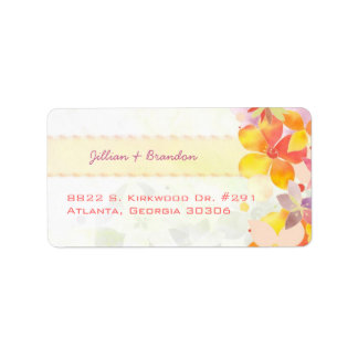 Lovely Watercolor Flowers Couple Address Labels