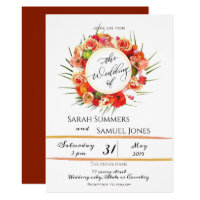 Lovely Watercolor Wreath Wedding Invitation