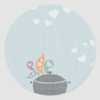 Lovely whiffs cooking pot love gift tag stickers