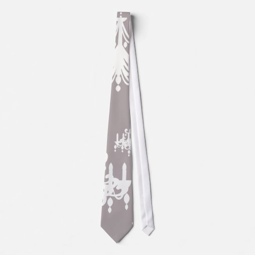 lovely white chandelier damask on grey silver neckties