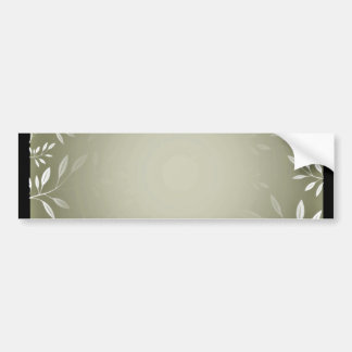 Lovely white floral on sea green texture bumper sticker