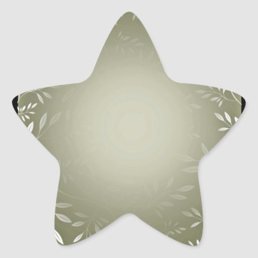 Lovely white floral on sea green texture star stickers