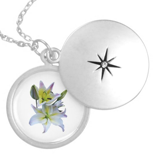 Lovely White Lilies Pendant