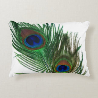 Lovely White Peacock Decorative Pillow