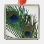 Lovely White Peacock Feather Ornament