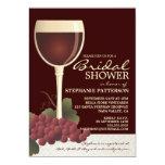 Lovely Wine & Grapes Bridal Shower Invitation