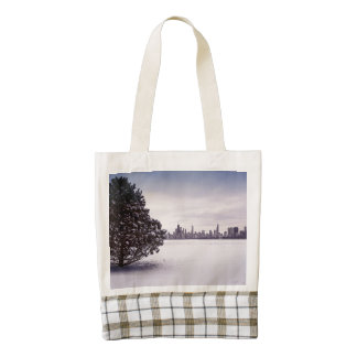 lovely winter Chicago - tote zazzle bag