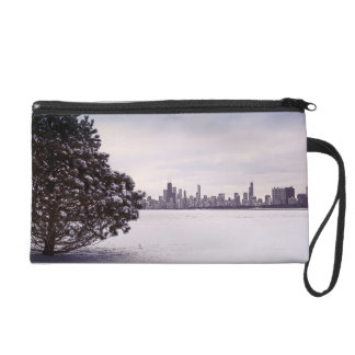 lovely winter Chicago - wristlet