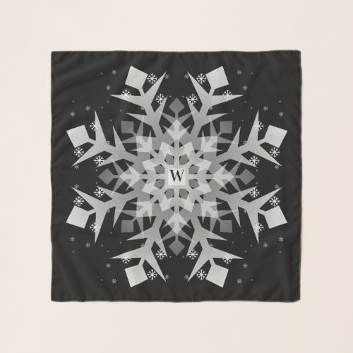 Lovely Winter Snowflakes Square Chiffon Scarf