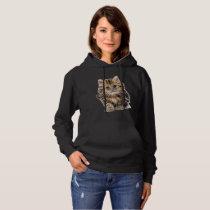 Lovely Women's Hooded Sweatshirt In Kitten Design