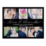 Lovely Writing Wedding Thank You Card - Black Postcard