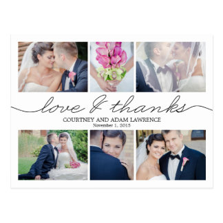 Thank you postcards zazzle for Thank you cards for wedding