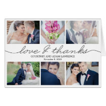 Lovely Writing Wedding Thank You Card - White