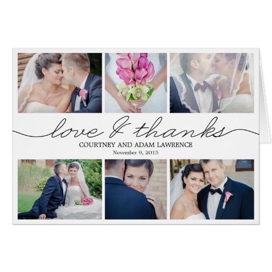 Lovely Writing Wedding Thank You Card White Zazzlecom