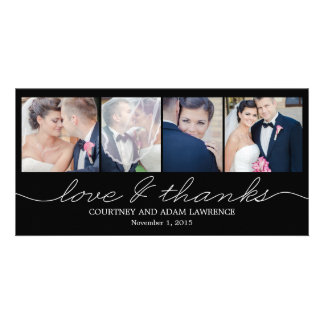 Lovely Writing Wedding Thank You Cards - Black