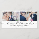 """Lovely Writing Wedding Thank You Cards - White<br><div class=""""desc"""">Share your wedding photos as you send your thank you note with these modern and elegant photo cards that your friends and family will surely adore! Also available in other colors. You can also change the color yourself by clicking the &quot;Customize It&quot; button &gt;&gt; &quot;Edit&quot; &gt;&gt; &quot;Background Color&quot;, and then...</div>"""
