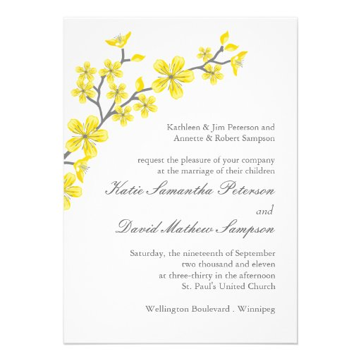 Yellow And Grey Wedding Invitations is one of our best ideas you might choose for invitation design