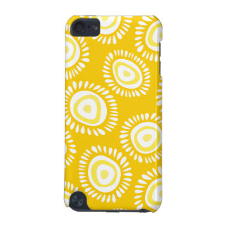 Lovely yellow funky flowers iPod Touch Case