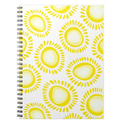 Lovely yellow funky flowers Notebook